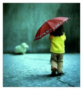 childgirlkidrainumbrella